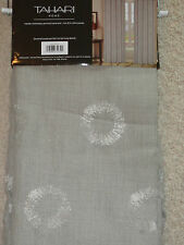 TAHARI Echo Metallic Gray Window Panels Drapes Set 2 NEW 50 x 84 Circles Tan