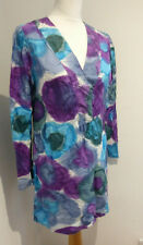 CCDK Copenhagen pattern print silk cotton kaftan top tunic dress 38 10 12 VGC