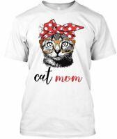 Cat Mom N - Hanes Tagless Tee T-Shirt