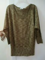 Ann Taylor LOFT - Shades of Brown Scoop Neck Knit Top -  Size XS  -  3/4 Sleeves