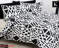 Belmondo Sphinx King Bed Quilt Cover Set - Black/White + 2 PILLOWCASES RRP 170$
