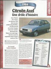 FICHE AUTOMOBILE - CITROËN AXEL 1984
