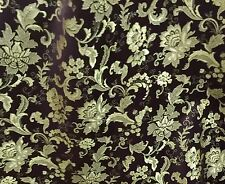 "BEOWN GOLD FLORAL METALLIC BROCADE FABRIC  45"" WIDE 1 YARD"