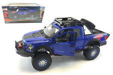 MAISTO 1:24 OFF-ROAD KINGS 2017 FORD F-150 RAPTOR PICK UP DIECAST CAR 32521 BLUE
