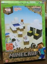 MINECRAFT PAPERCRAFT KIT SNOW BIOME SET 48 PIECES NEW IN BOX   #ssep15-156