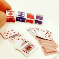 Miniature Poker Set Mini 1:12 Dollhouse Playing Cards Cute Doll Toy House Decor