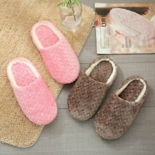 Anti-Slip Women Lady Indoor Slippers Cotton Warm Bedroom Furry Slippers Shoes