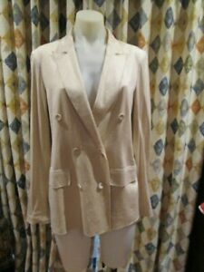 womens WITCHERY work or dressy style light weight jacket SZ M 12-14 silk blend