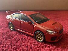 2015 Subaru WRX STi RHD Diecast Pull Back - RED *** RARE ***