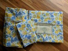 Laura Ashley Charlotte Yellow & Blue Twin Sheet Set & Pillowcase 100% Cotton NEW