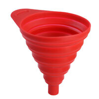 Flexible Collapsible Silicone Funnel Foldable Silicon Kitchen Hopper Tool NEW