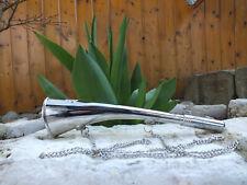 Corne marine de brume laiton chromé avec chainette longueur 22cm neuve