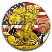 2019 Donald Trump Peace Sign - American Silver Eagle 1oz .999 Silver Coin