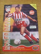 21/09/1993 Sunderland v Leeds United [Football League Cup] . Item in very good c