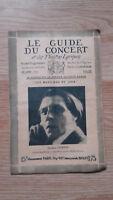 El Guía de La Concierto Y Las Teatro Letra - Alfred Cortot - N º 36-1928