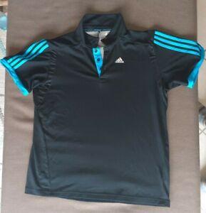 Adidas Poloshirt climacool schwarz blau XL