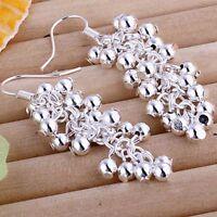 ASAMO Damen Ohrhänger Trauben Ohrringe 925 Sterling Silber plattiert O1008