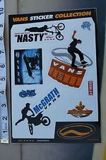 VANS Jeremy McGrath Motocross Snowboard Skateboarding Shoes Decal STICKER sheet