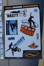 VANS Jeremy McGrath Motocross Snowboard Skateboarding Shoes Decal STICKER sheet