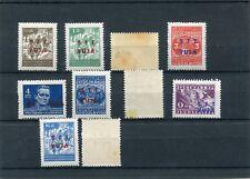Italia  Trieste B 1949 7-16 francobolli Jugoslavia soprastampati macchiati  Mnh