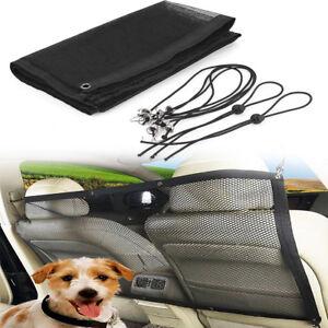 Car Truck Back Seat Pet Safety Travel Isolation Net Dog Barrier Mesh 115x62cm