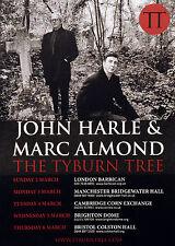 MARC ALMOND & JOHN HARLE THE TYBURN TREE 2014 TOUR POSTER