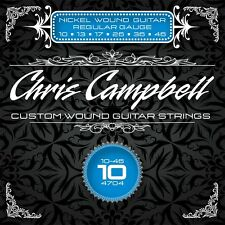 3 SETS CHRIS CAMPBELL CUSTOM ELECTRIC GUITAR STRINGS #4704 REGULAR GAUGE