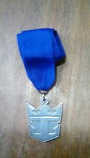 Royal Caribbean Cruise Award Medal Silver, Blue Ribbon Heavy Metal with Rcl Logo
