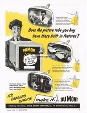 1956 Dumont Television Picture Tube Replacement Vtg Print Ad