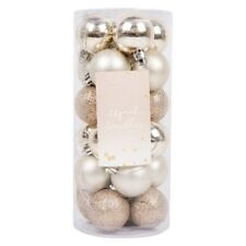 24 Luxury Christmas Gold Baubles Traditional Tree Decoration Xmas Themed Balls