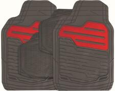 RED/BLACK Set of 4 Heavy Duty Rubber Mats fits OPEL (RM121)