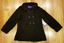 Madden Girl Pea Coat Soft Texture Black Winter Jacket Size 6 THESPOT917