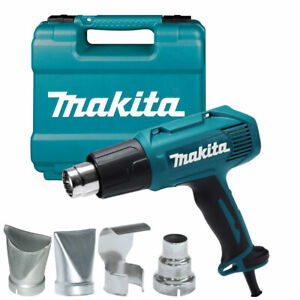 Makita HG5030K Heavy Duty 1600W Heat Hot Air Gun & Accessory 240V Carry Case