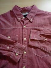 Topman Pinkish Red Long Sleeve Shirt Size M