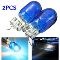 2x DRL W21/5W T20 7443 Dual Filament Sidelight Xenon Super White HID Bulb Blue