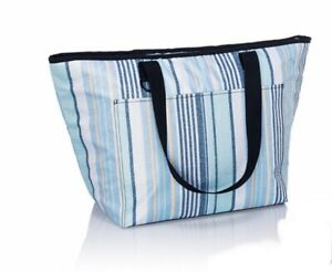 Thirty One Tote-Ally Tote Ally w/ Leak Lock Thermal Cooler Boardwalk Stripe NEW