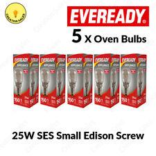 5 X Oven Bulb 300°C Cooker Appliance Rated Lamp Light 25W 240V SES E14 Eveready