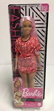 Barbie - 2020 Fashionistas Doll #151 Curvy Pink Hair  BRAND NEW Free Ship