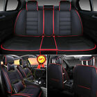 Luxury 5Seat Car Seat Cover PU Leather Front&Rear SUV Cushion Set Universal Sale