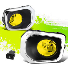 YELLOW TINTED OE FOG LIGHT/LAMP PAIR+BEZEL COVER+SWITCH FOR 16-17 TOYOTA TACOMA