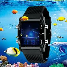Kids Boy Girls Sports Watches Date Digital Quartz Waterproof Colorful LED Watch