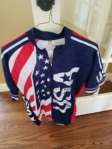 Men's Cycling Jersey XL USA FLAG Red, White & Blue, Short Sleeve