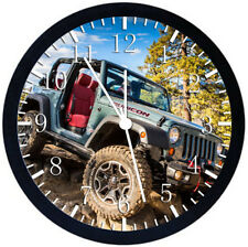 Jeep Wrangler Off Road Black Frame Wall Clock Nice For Decor or Gifts E212