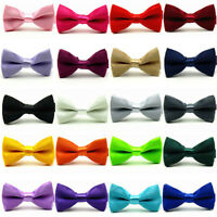 Baby Boys Kids Child Satin Pre-Tied Bow Tie Wedding Party Tuxedo Bowties Necktie