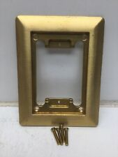 Steel City P 64 CP MopTite™ Single Gang Carpet Plate; Brass