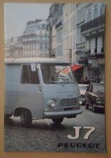 PEUGEOT J7 VAN RANGE orig 1973 1974 Prestige Sales Brochure Folder in Dutch