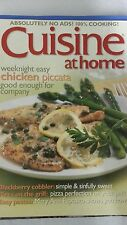 CUISINE AT HOME MAGAZINE WEEKNIGHT EASY CHICKEN PICCATA GOOD ENOUGH FOR COMPANY.