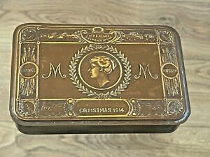 WWI 1914 QUEEN MARY CHRISTMAS TIN FOR THE TROOPS