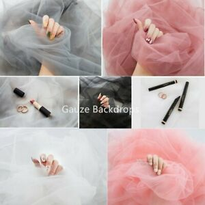 Gauze Photography Background fit for Nail Art Photo Shooting Prop Tulle Backdrop