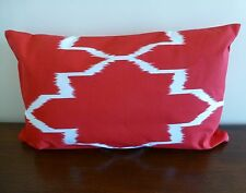 Unikko Red Rectangular Cushion Cover Lumbar Support 30 X 50